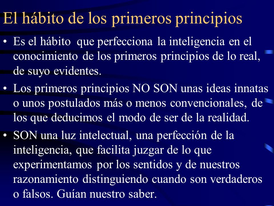 El hábito de los primeros principios