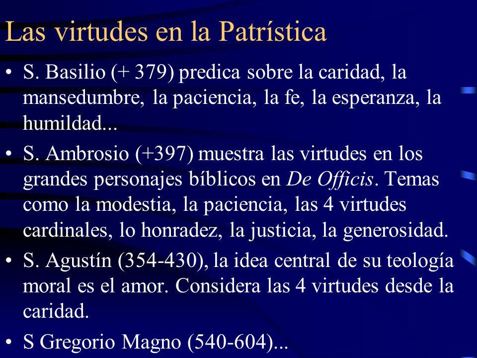 Las virtudes en la Patrística