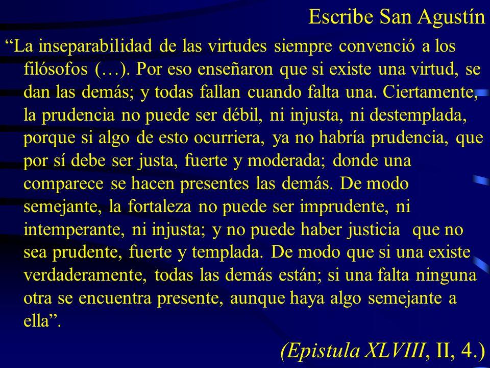 Escribe San Agustín (Epistula XLVIII, II, 4.)