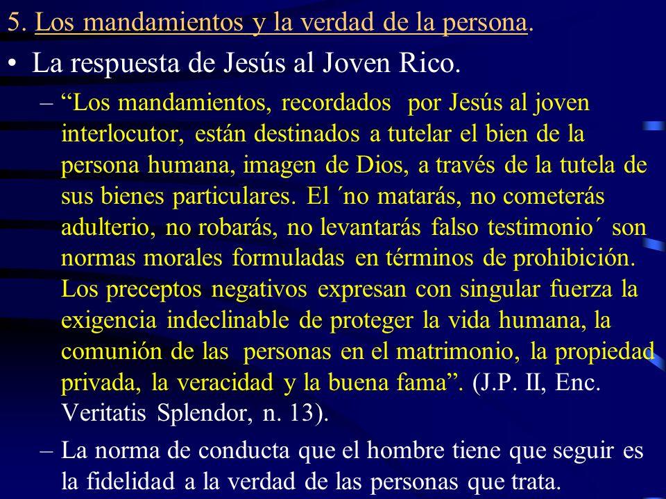 La respuesta de Jesús al Joven Rico.