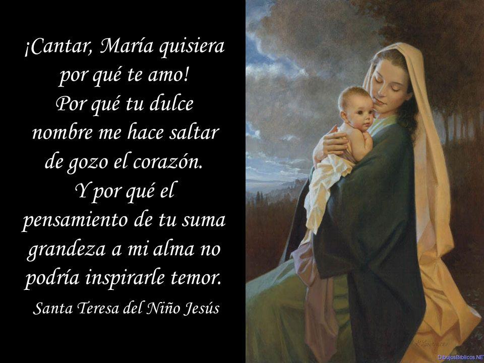 ¡Cantar, María quisiera por qué te amo!