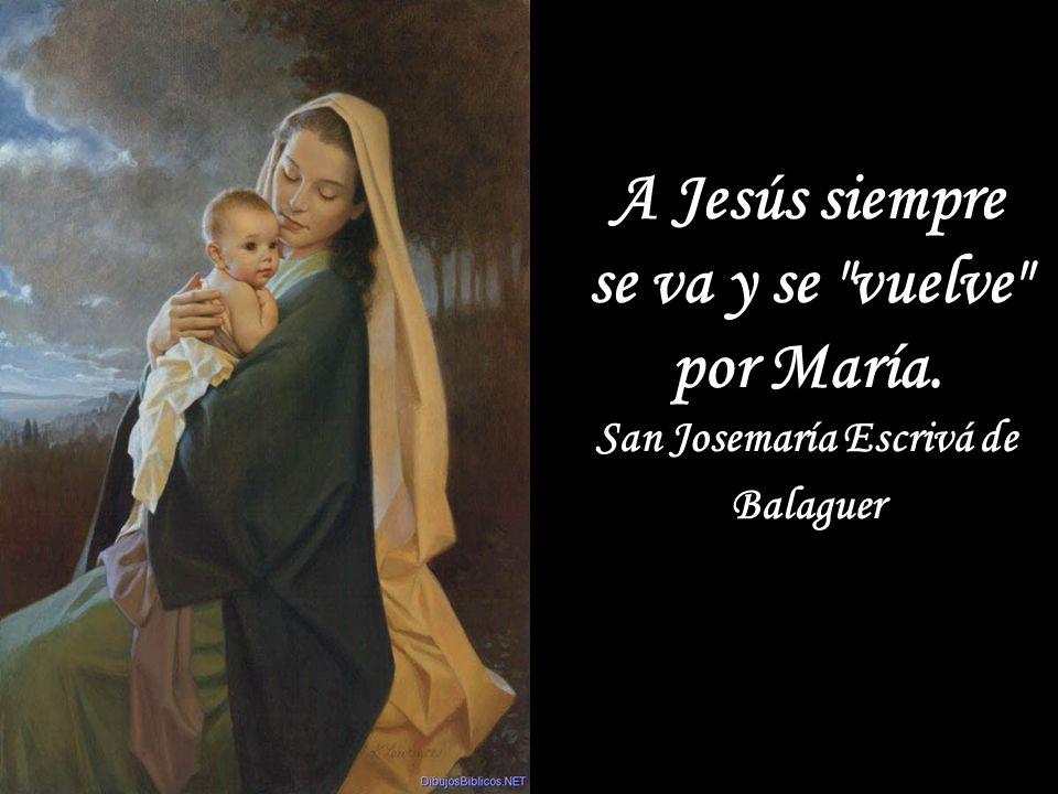 A Jesús siempre se va y se vuelve por María.