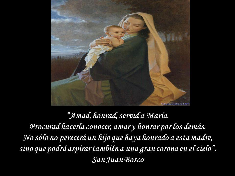 Amad, honrad, servid a María.