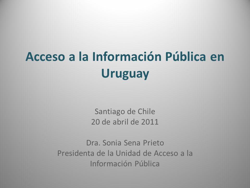 Acceso a la Información Pública en Uruguay
