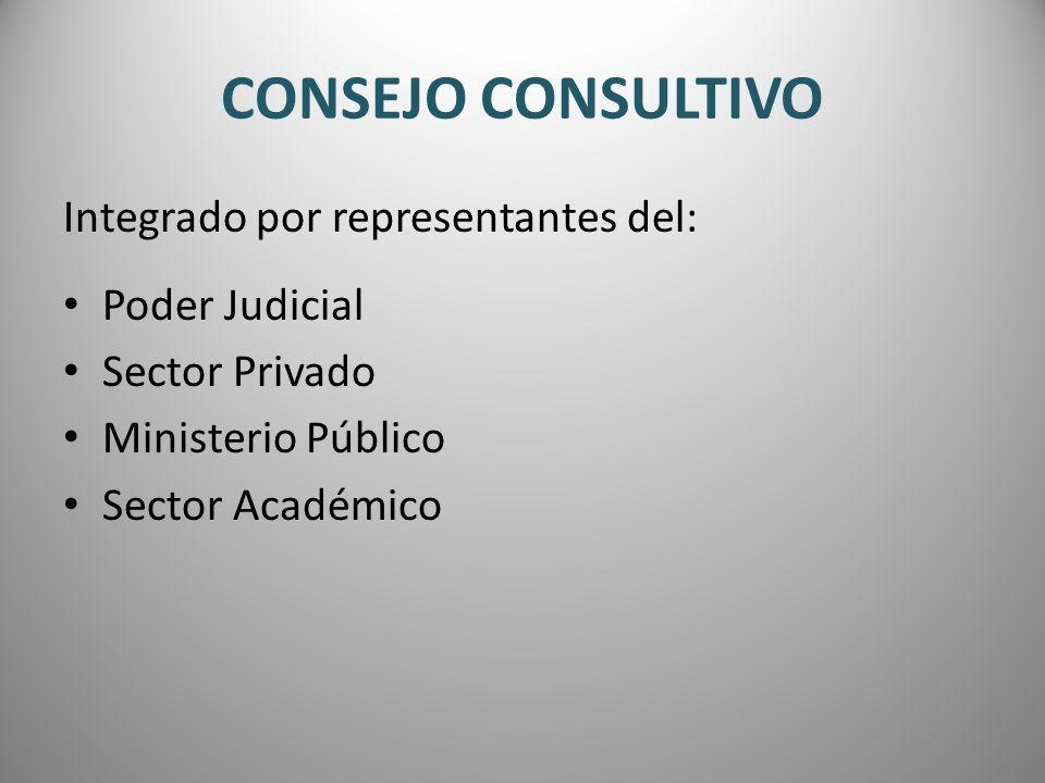 CONSEJO CONSULTIVO Integrado por representantes del: Poder Judicial