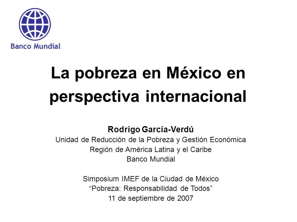 La pobreza en México en perspectiva internacional