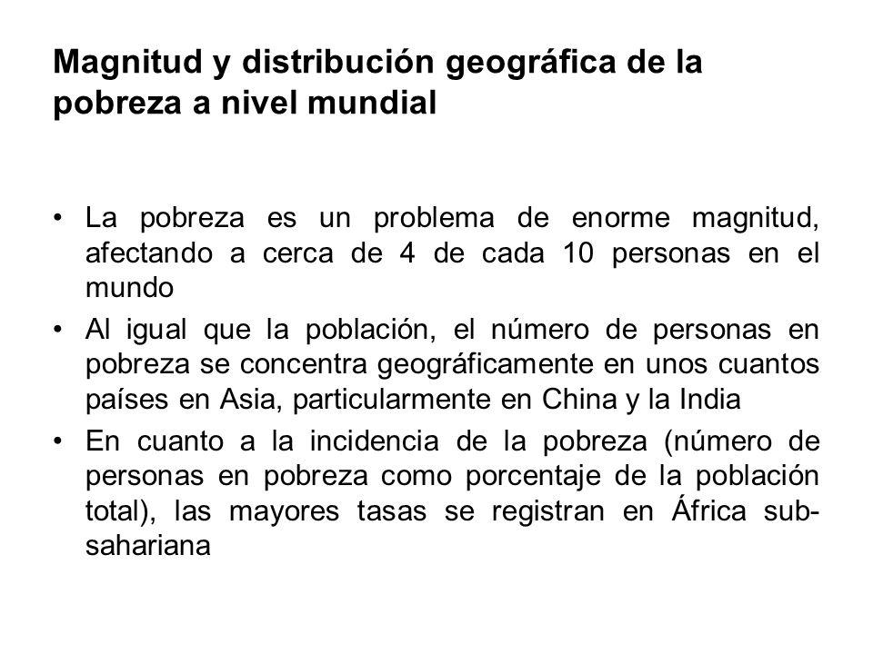 Magnitud y distribución geográfica de la pobreza a nivel mundial
