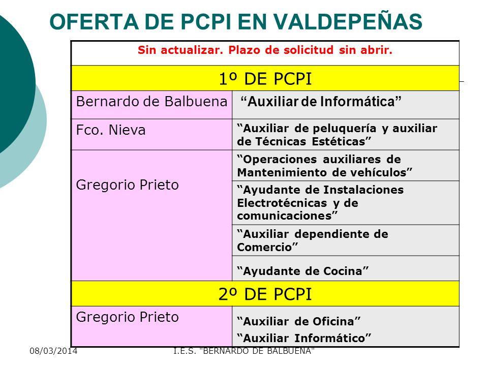 OFERTA DE PCPI EN VALDEPEÑAS
