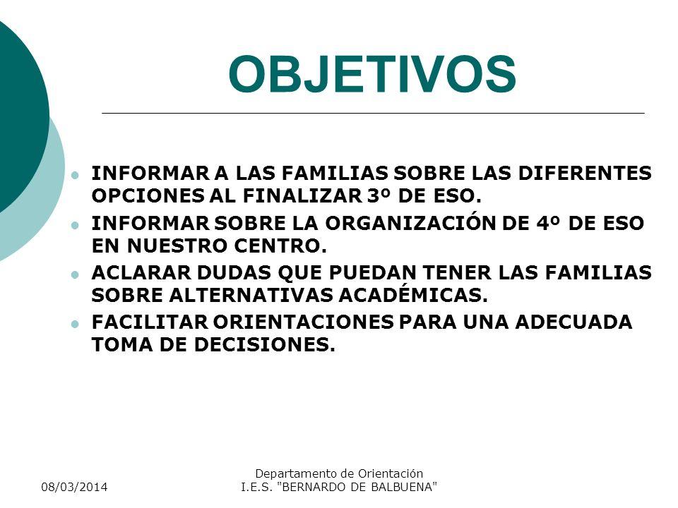 Departamento de Orientación I.E.S. BERNARDO DE BALBUENA