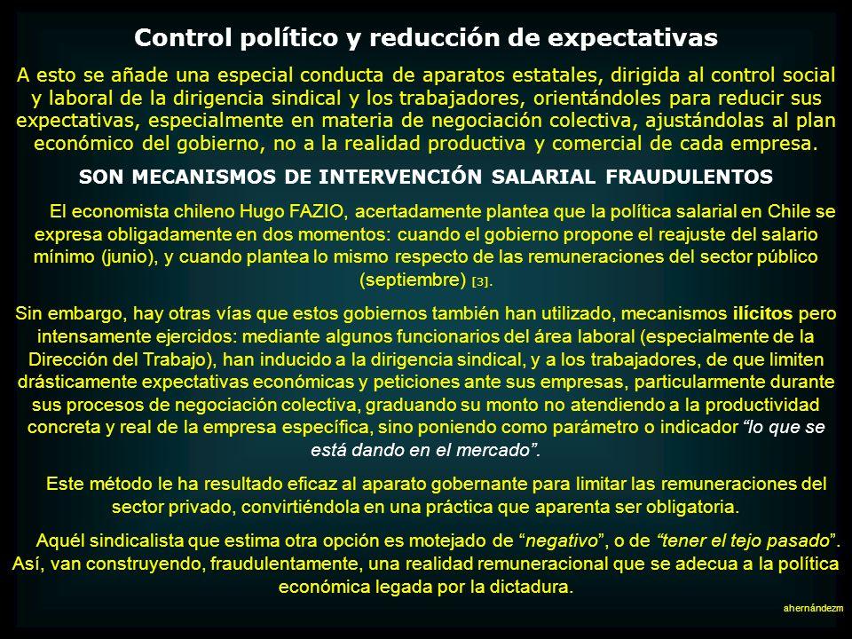 Control político y reducción de expectativas