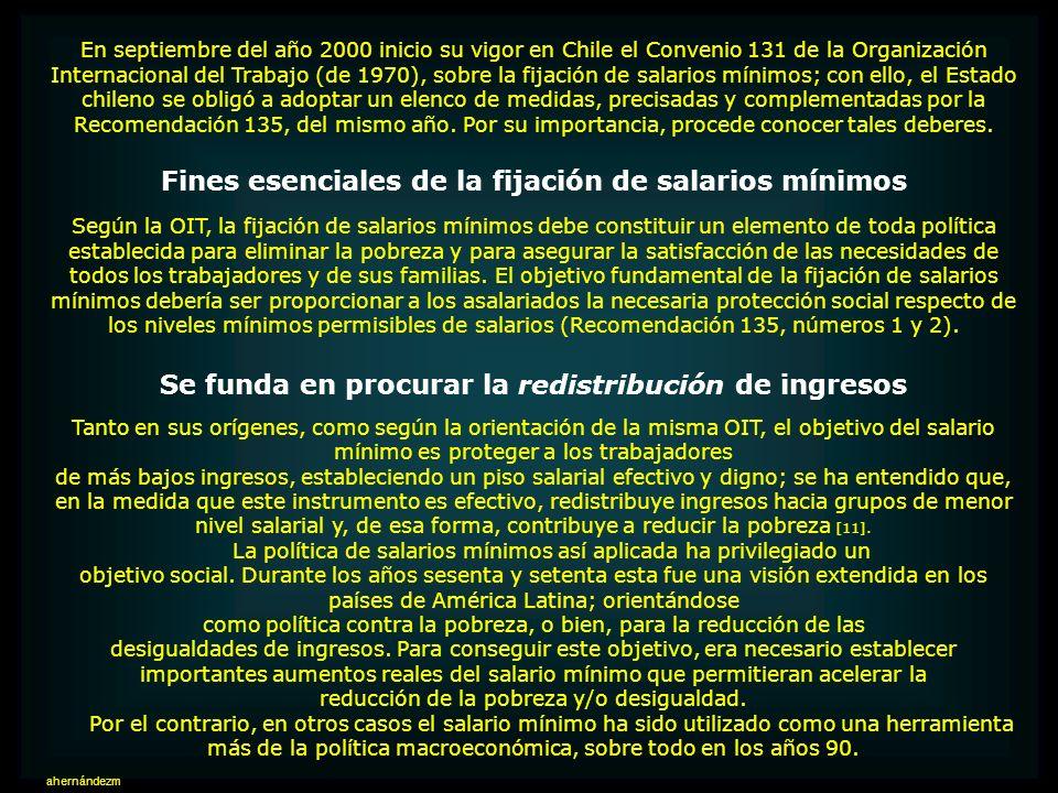 Fines esenciales de la fijación de salarios mínimos