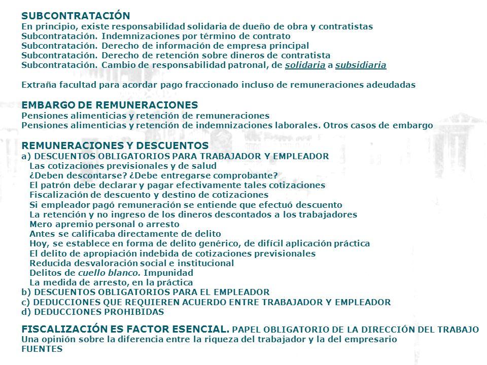 EMBARGO DE REMUNERACIONES