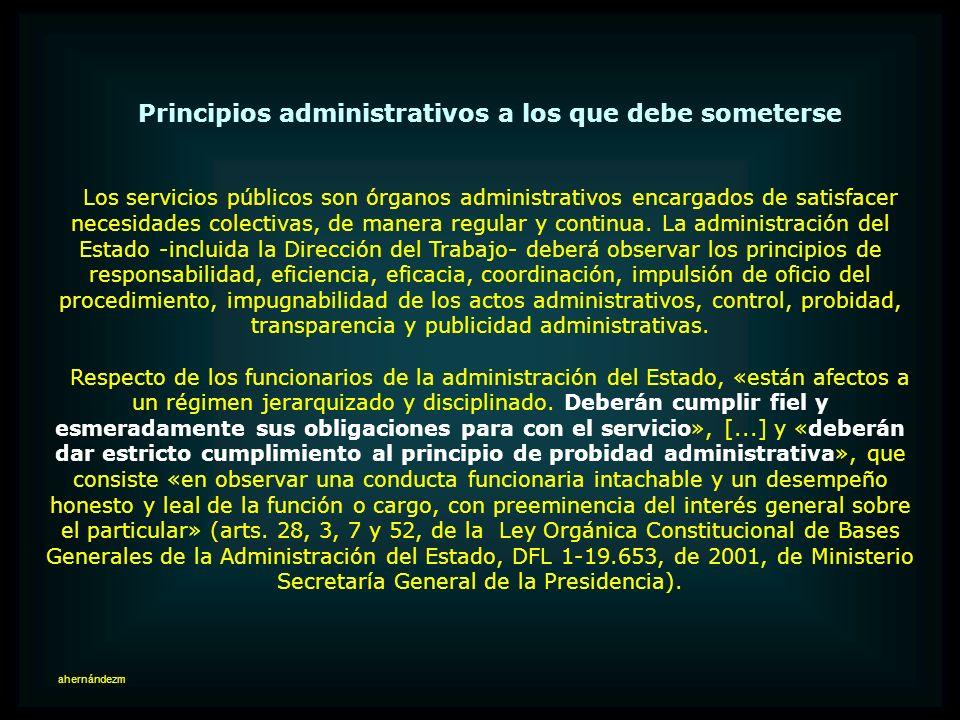 Principios administrativos a los que debe someterse
