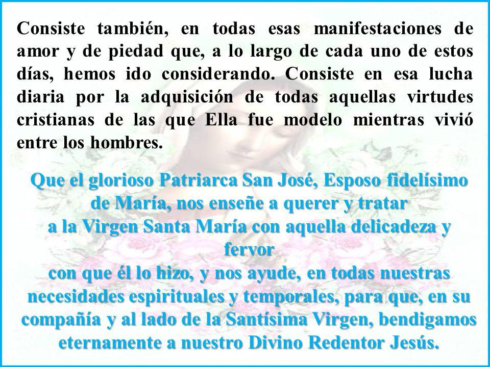Que el glorioso Patriarca San José, Esposo fidelísimo