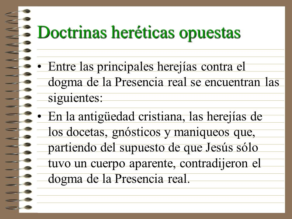 Doctrinas heréticas opuestas