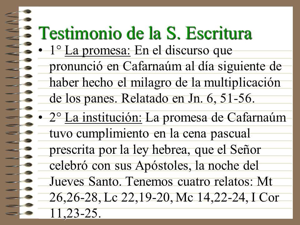 Testimonio de la S. Escritura