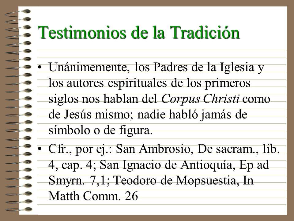 Testimonios de la Tradición