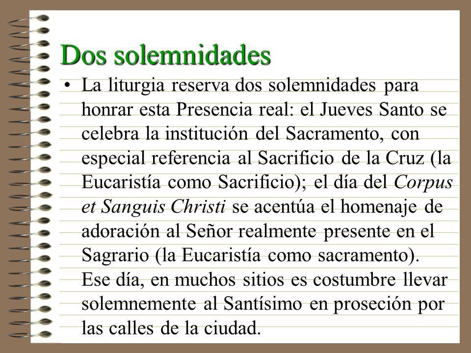 Dos solemnidades
