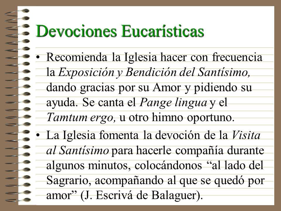 Devociones Eucarísticas