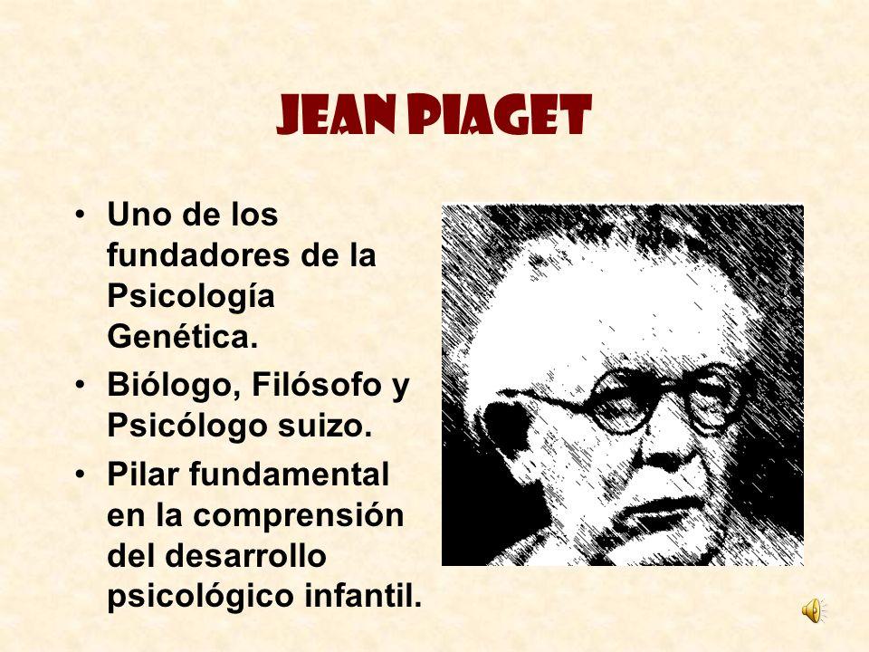Jean Piaget Uno de los fundadores de la Psicología Genética.