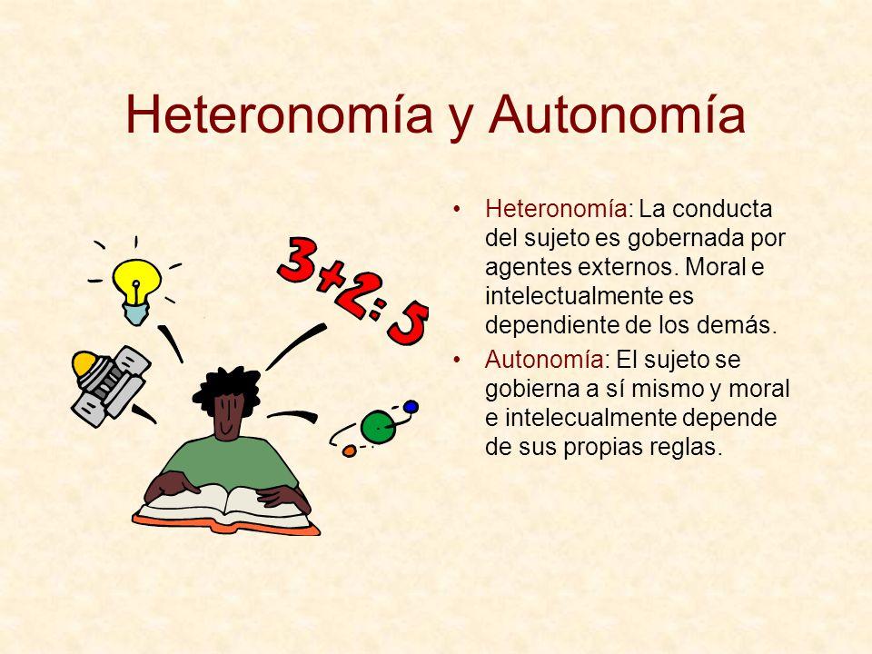 Heteronomía y Autonomía