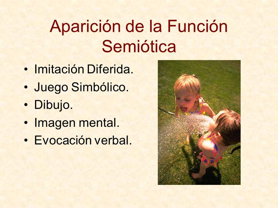 Aparición de la Función Semiótica