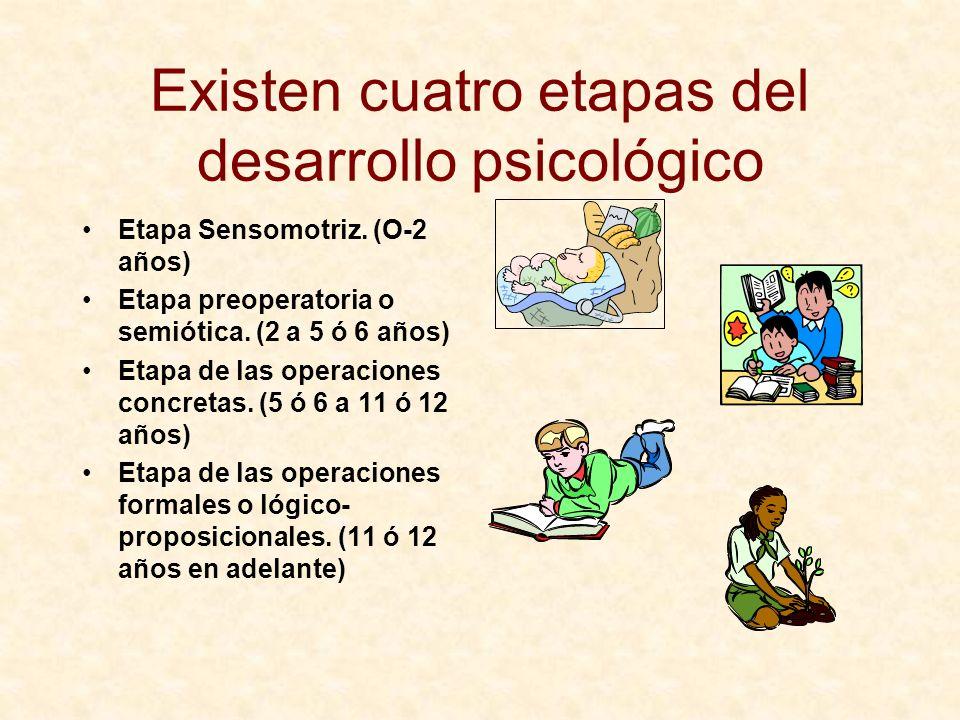 Existen cuatro etapas del desarrollo psicológico