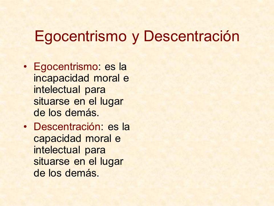 Egocentrismo y Descentración