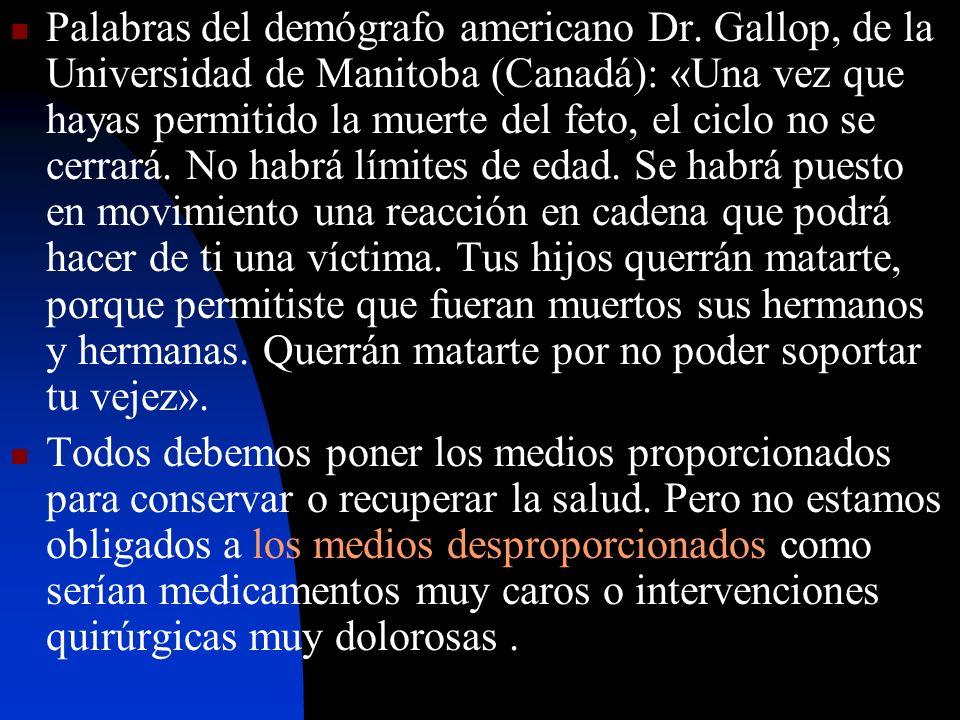 Palabras del demógrafo americano Dr