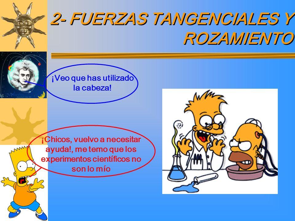 2- FUERZAS TANGENCIALES Y ROZAMIENTO