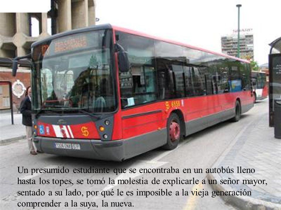 Un presumido estudiante que se encontraba en un autobús lleno