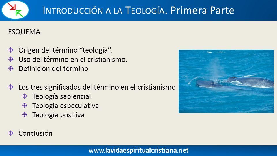 Introducción a la Teología. Primera Parte