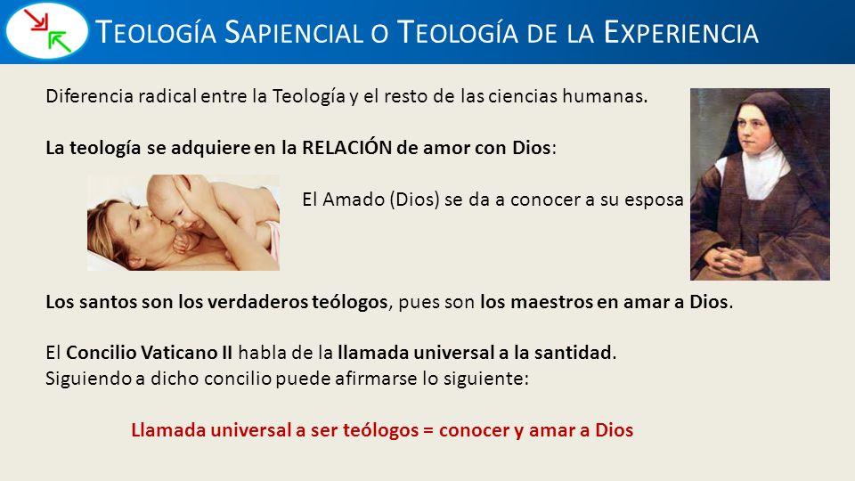 Teología Sapiencial o Teología de la Experiencia