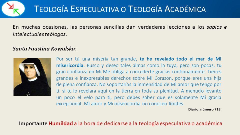 Teología Especulativa o Teología Académica