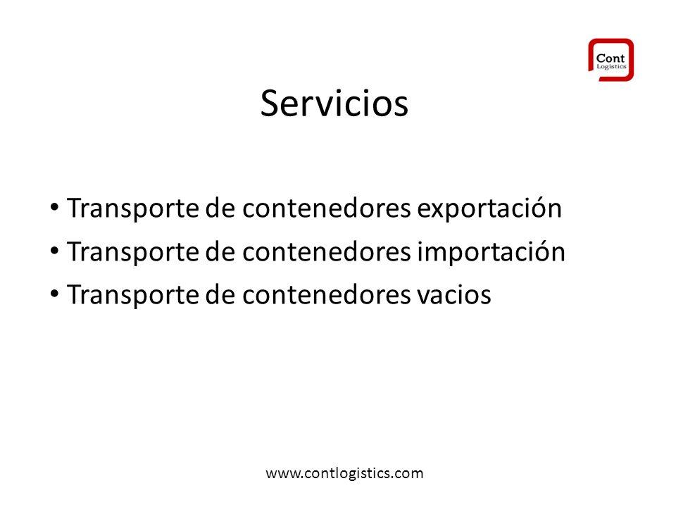 Servicios Transporte de contenedores exportación