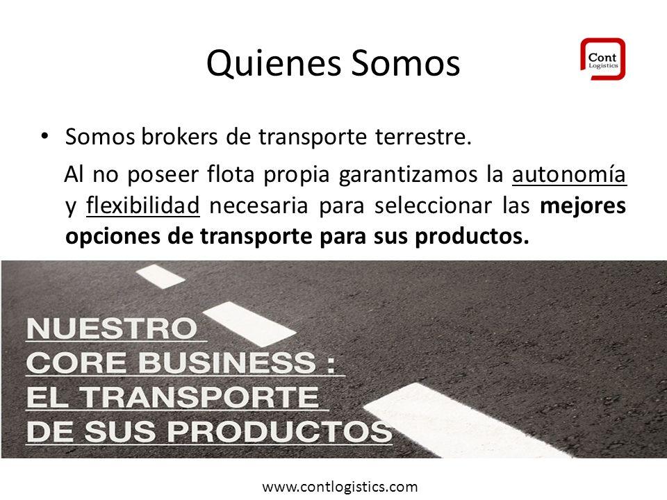 Quienes Somos Somos brokers de transporte terrestre.