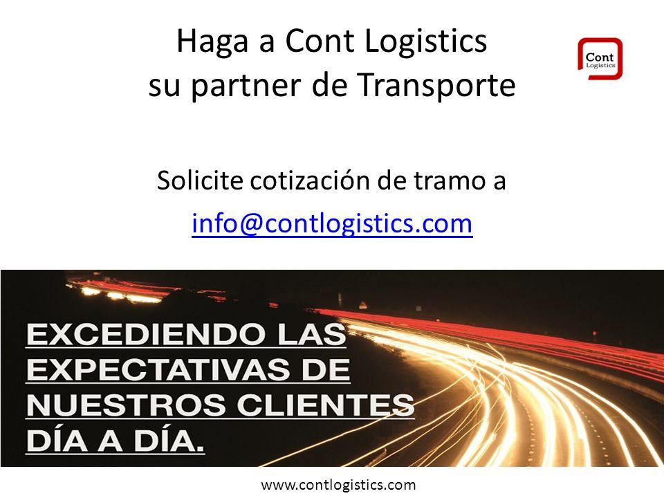 Haga a Cont Logistics su partner de Transporte