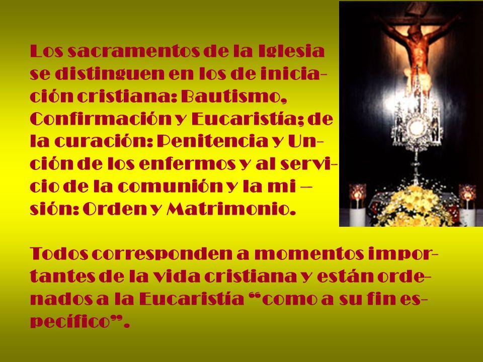 Los sacramentos de la Iglesia