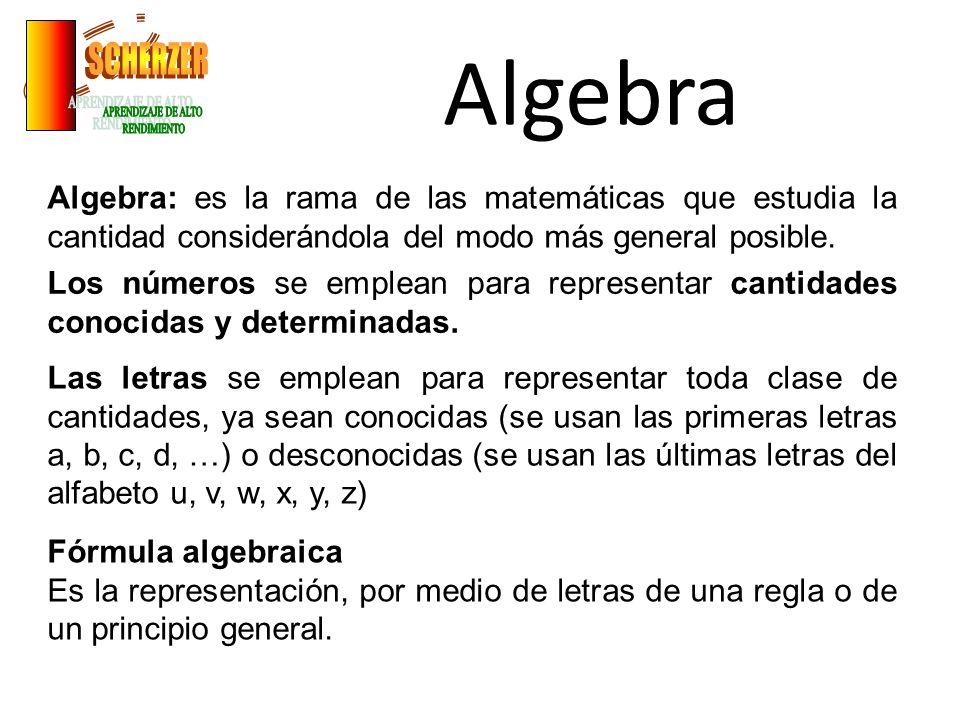 Algebra SCHERZER APRENDIZAJE DE ALTO RENDIMIENTO