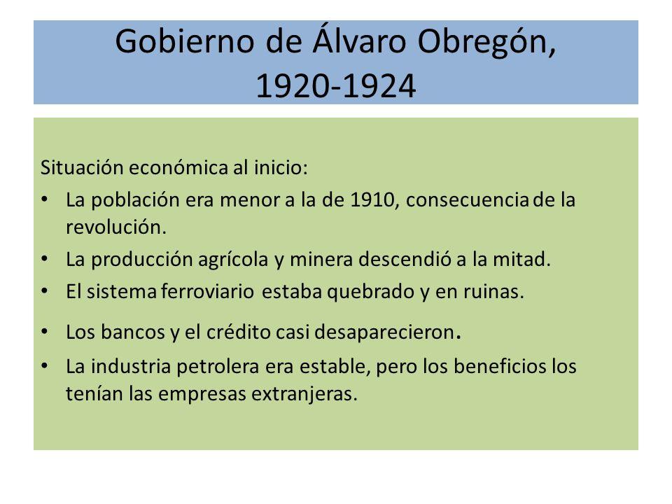 Gobierno de Álvaro Obregón, 1920-1924