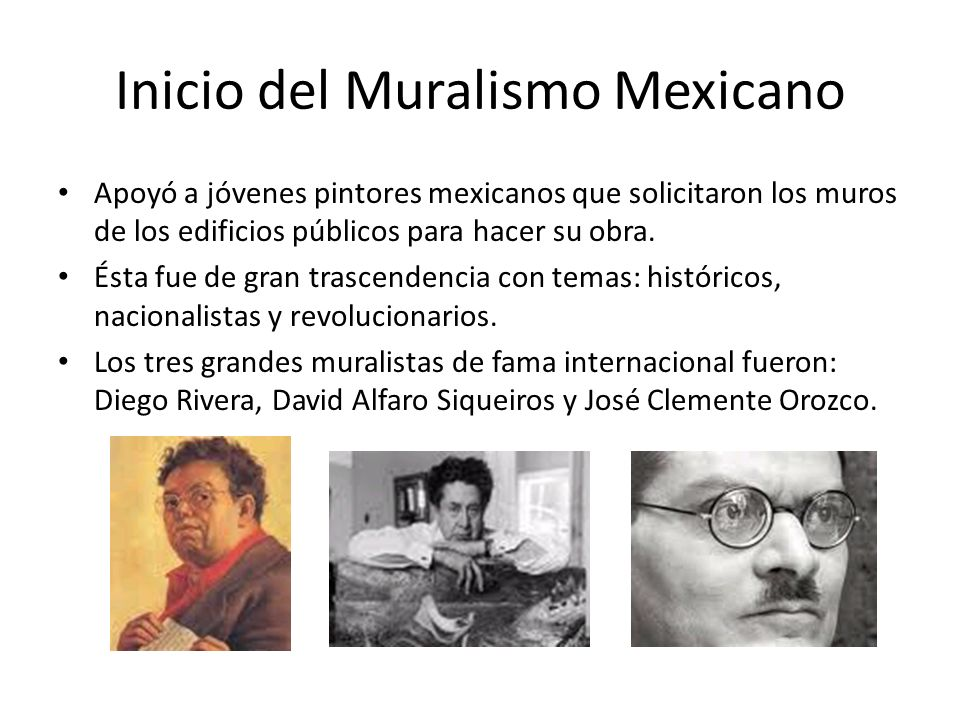 Inicio del Muralismo Mexicano