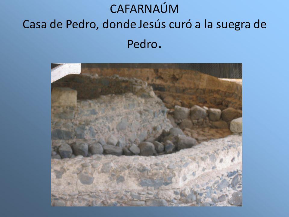 CAFARNAÚM Casa de Pedro, donde Jesús curó a la suegra de Pedro.