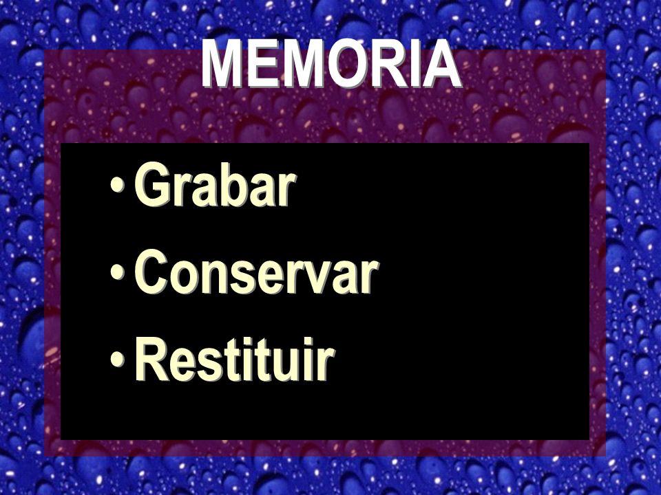 MEMORIA Grabar Conservar Restituir