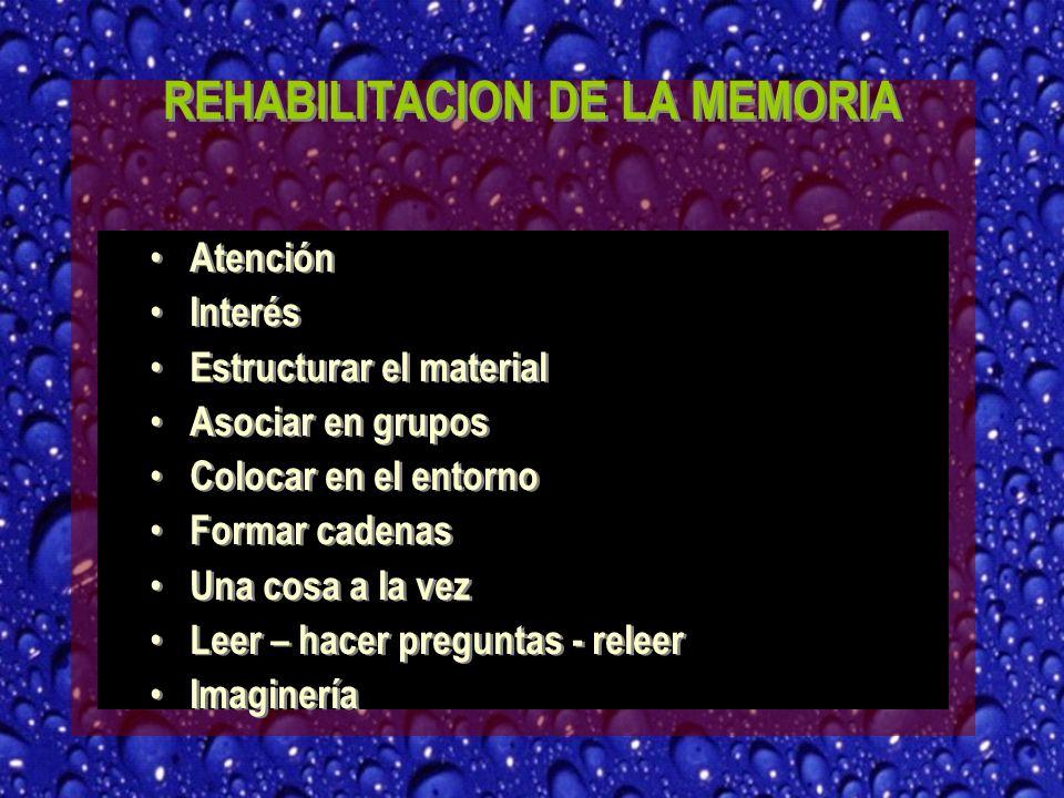 REHABILITACION DE LA MEMORIA