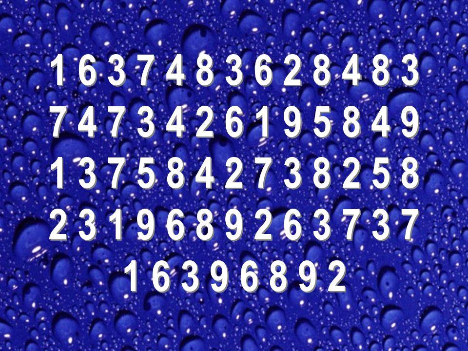 1 6 3 7 4 8 3 6 2 8 4 8 3 7 4 7 3 4 2 6 1 9 5 8 4 9 1 3 7 5 8 4 2 7 3 8 2 5 8 2 3 1 9 6 8 9 2 6 3 7 3 7 1 6 3 9 6 8 9 2