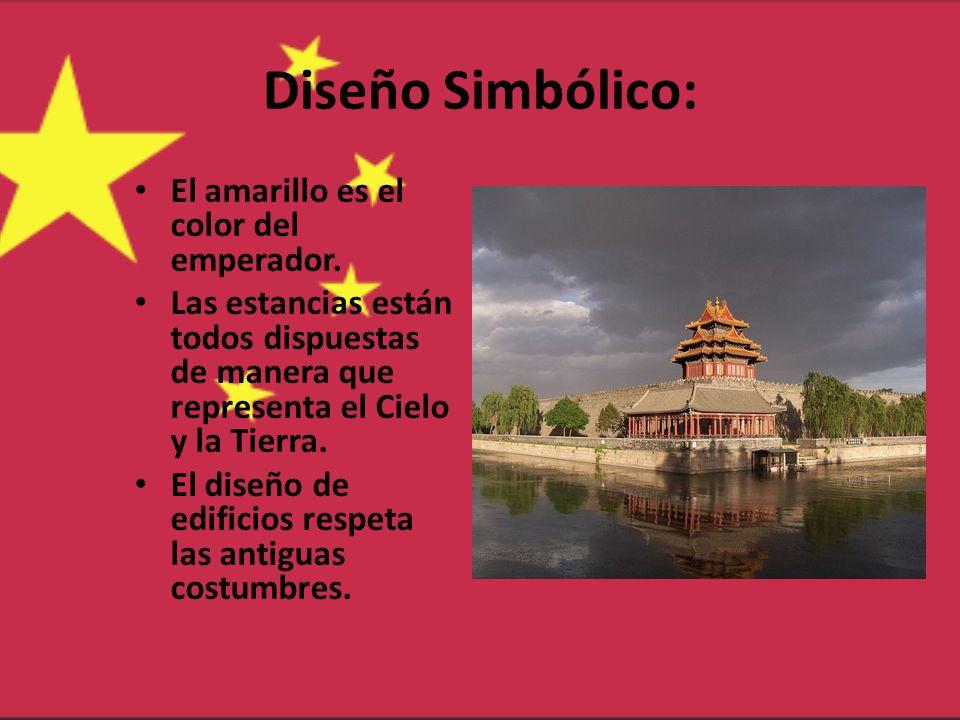 Diseño Simbólico: El amarillo es el color del emperador.