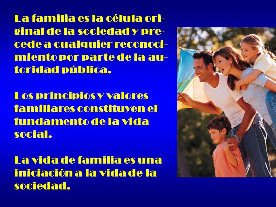 La familia es la célula ori-