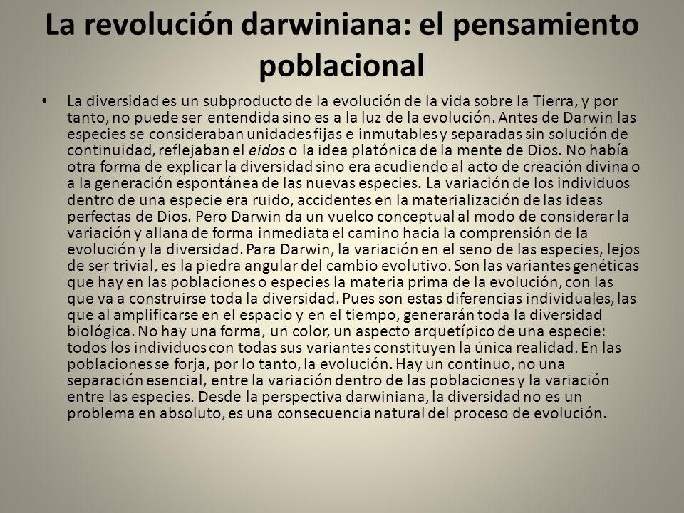 La revolución darwiniana: el pensamiento poblacional