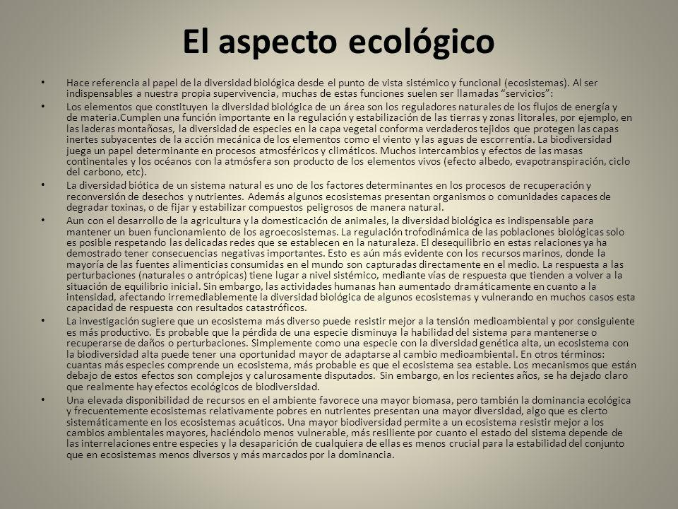 El aspecto ecológico
