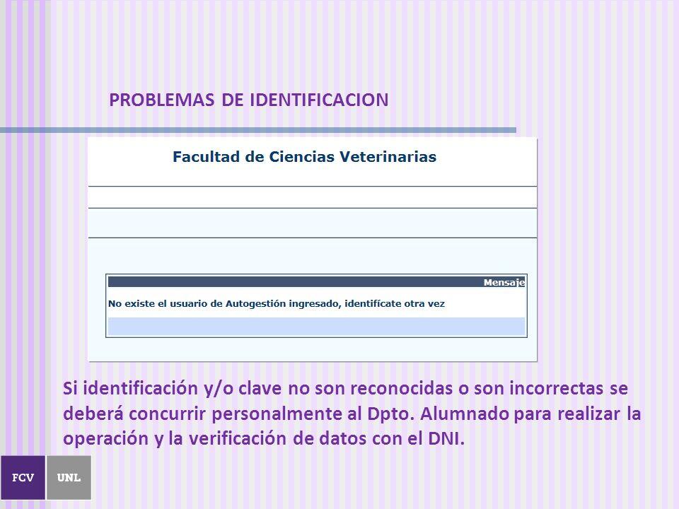 PROBLEMAS DE IDENTIFICACION